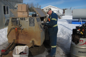 service on a 185CFM portable air compressor